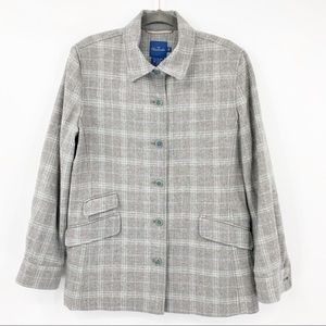 Faconnable Plaid Gray Wool Jacket Blazer